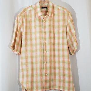 Canali Sportswear XL 100% Linen Casual Shirt